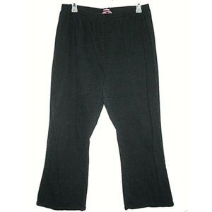 Woman Within Size 24W Jeans Black Pull On Flared